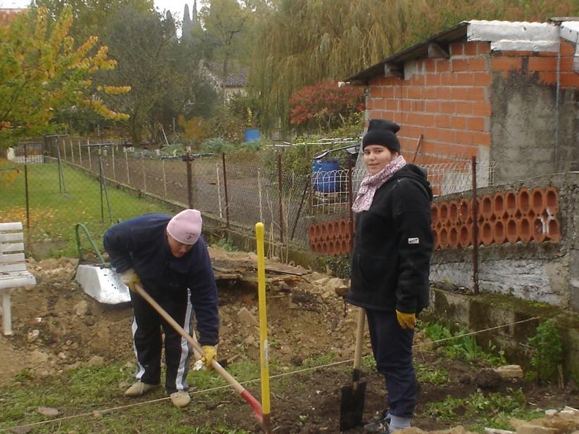 creuser les fondations de la terrasse centerblog